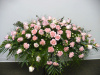 Blush Rose Carnation Full Casket Spray (shown at $250.00)