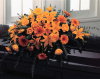 Gerbera Full Casket Spray (shown at $350.00)