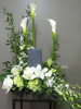 Urn Calla Surround (shown at $130.00)