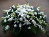 White Garden Full Casket (shown at $200.00)